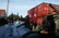 Container loaded onto truck amidst icy snow in Copenhagen